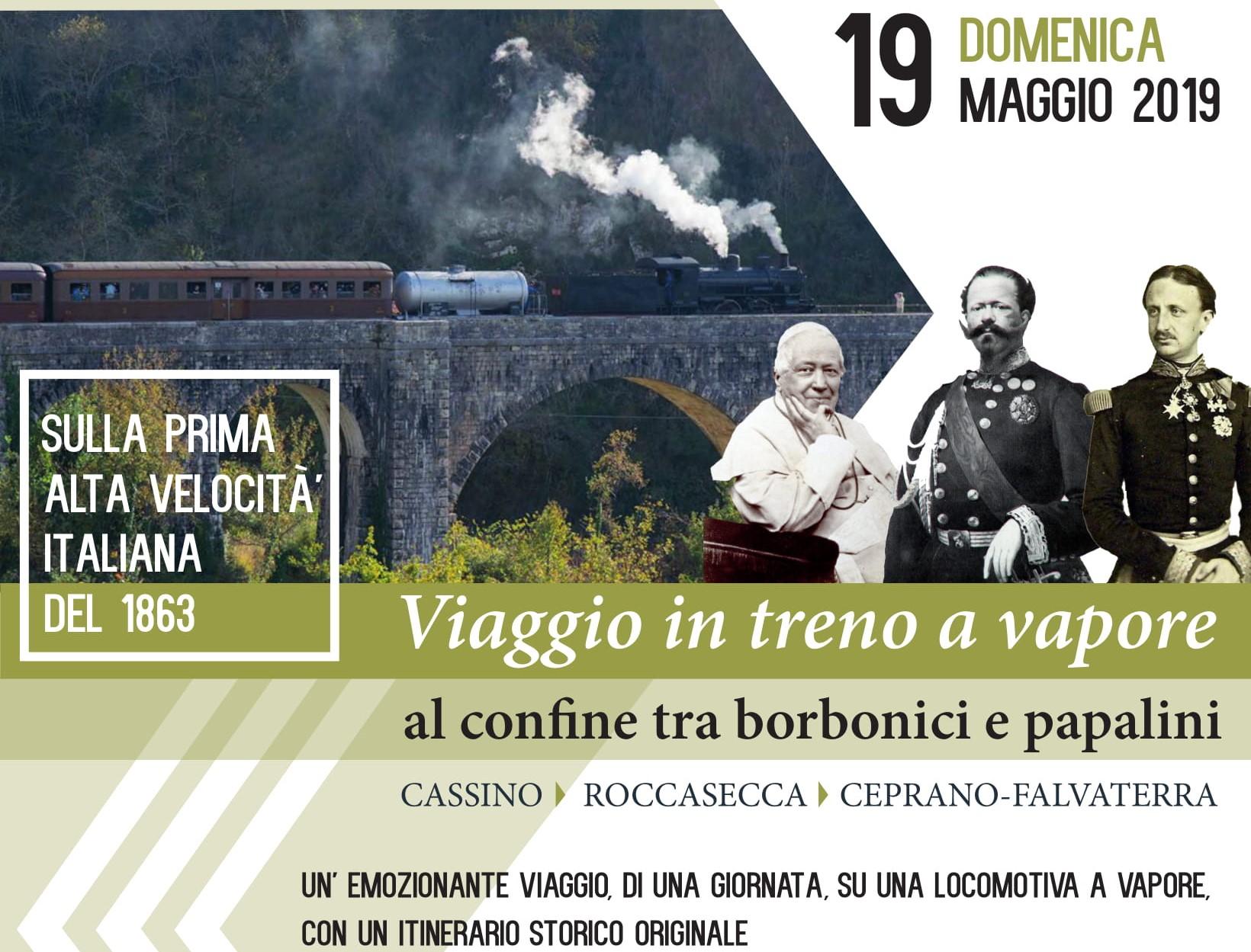 Viaggio in treno a vapore - Al confine tra borbonici e papalini