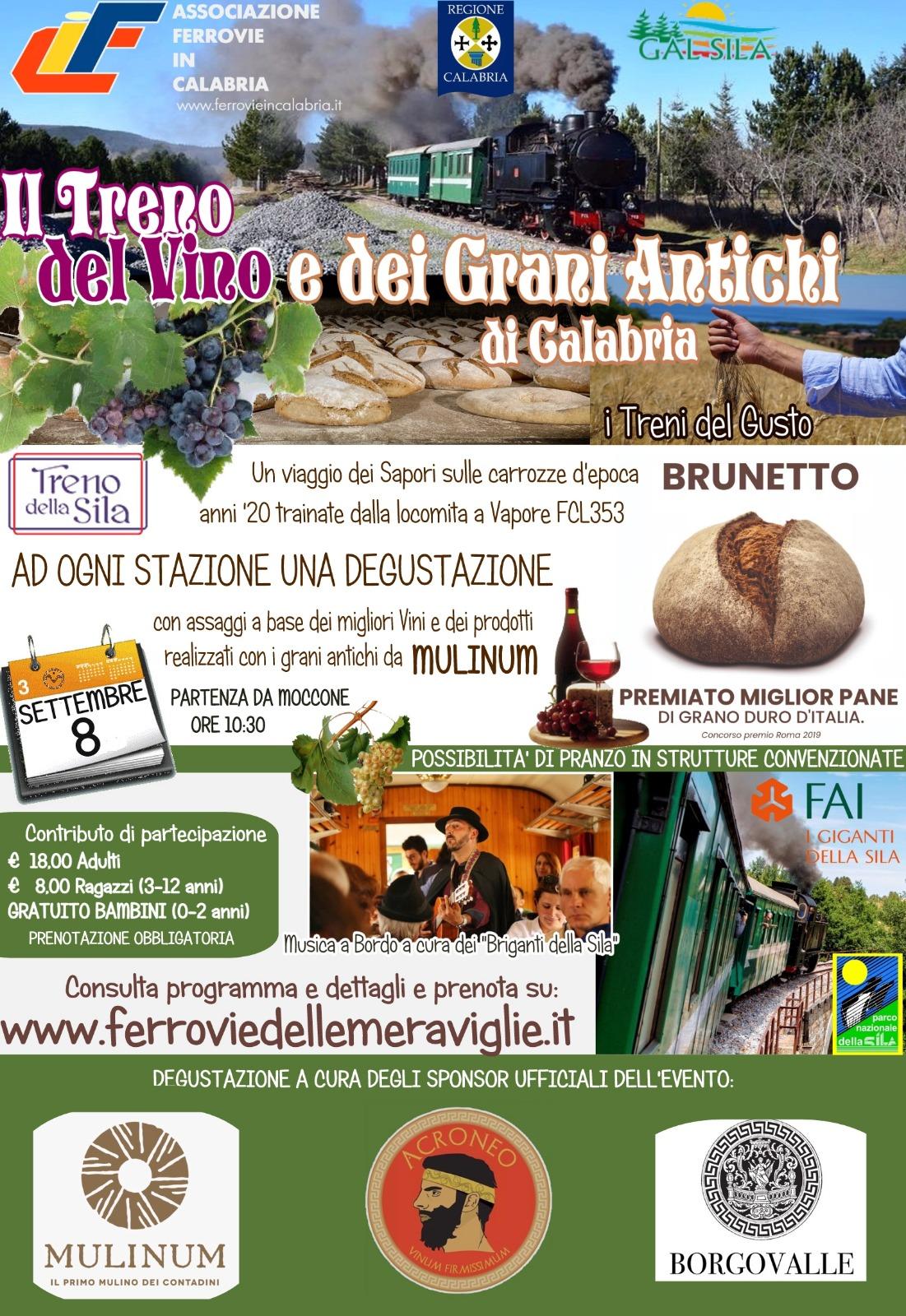 Il Treno del Vino e dei Grani Antichi di Calabria